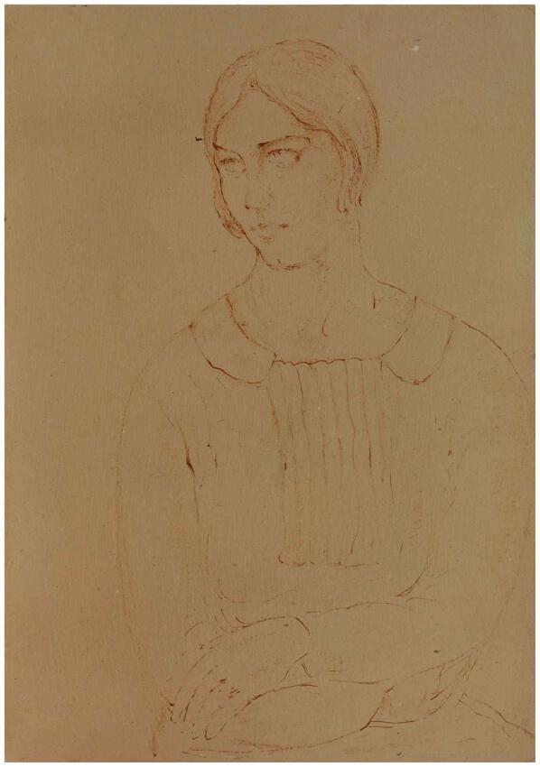 Retrato de una joven, Ramón Acín, Sala 4