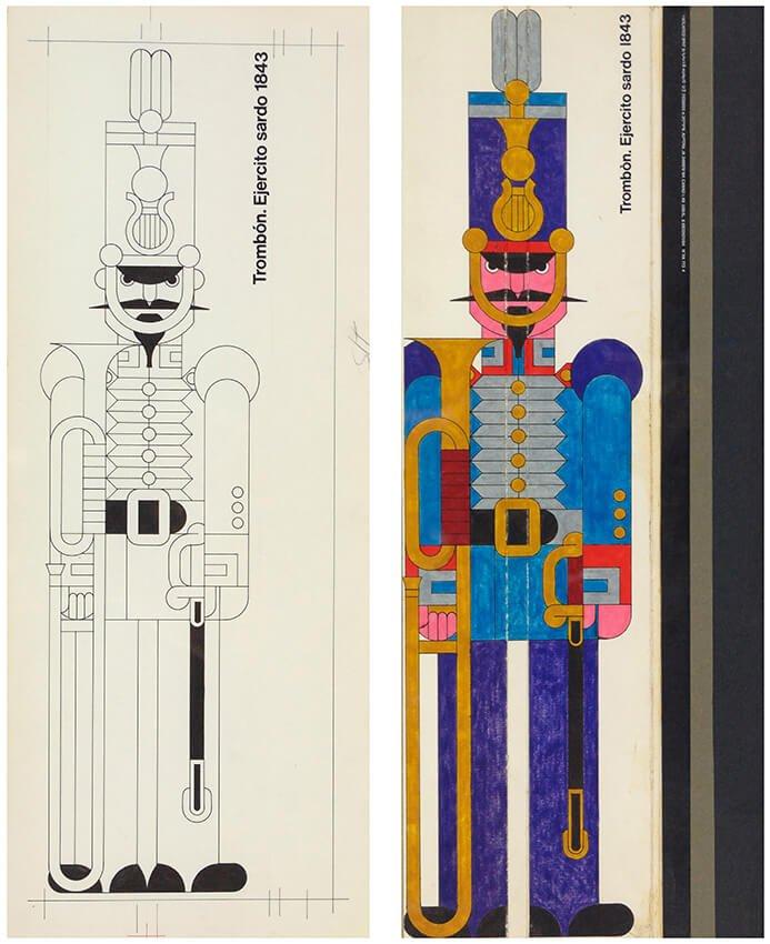 Ilustración de caja de cerillas, Cruz Novillo, Sala 6
