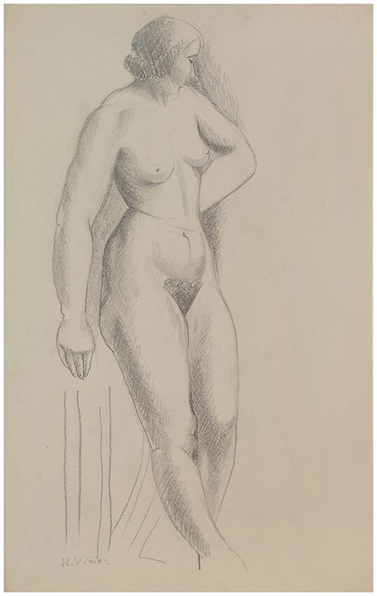 Estudio de desnudo, Hernando Víñes, Sala 12